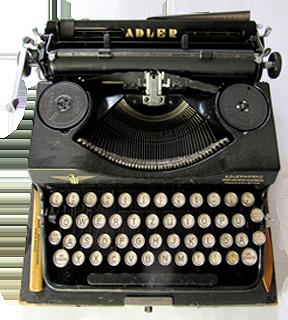 H-Werkstatt Schreibmaschine Adler